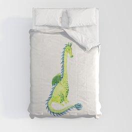 Lime Green Watercolor Dragon Comforters