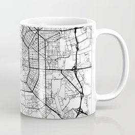 Milan Map White Coffee Mug
