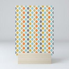 Retro Circles Mid Century Modern Background Mini Art Print