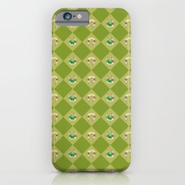 Gold horseshoe with clover iPhone Case