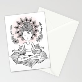 Padmasana Pose Stationery Cards