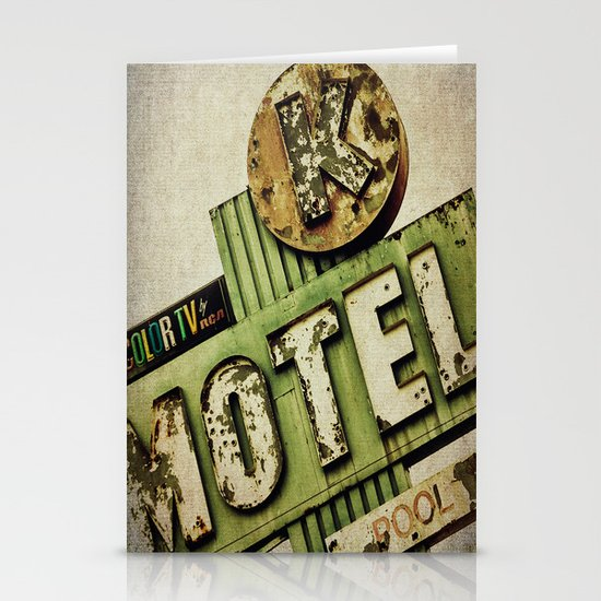 Circle K Motel Sign  Stationery Cards