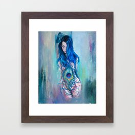Peafowl Flow Framed Art Print