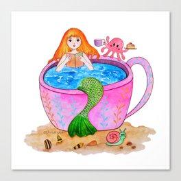 Happy mermaid Canvas Print