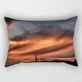 Smoke and Fire Rectangular Pillow