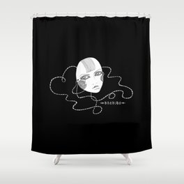 Doll Face Blackie Shower Curtain