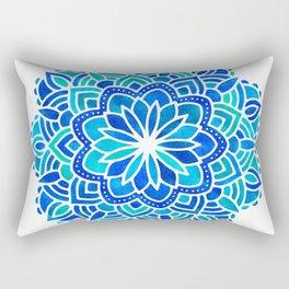 Mandala Iridescent Blue Green Rectangular Pillow
