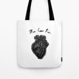 """Mon Coeur Noir "" (My Black Heart) - Original Artwork by Denise Sagun Tote Bag"
