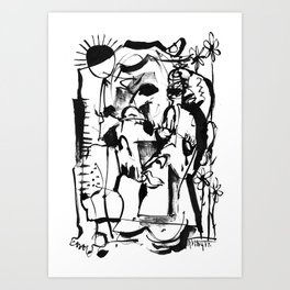 Sunrise - b&w Art Print
