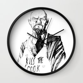 Walter White -Kiss The Cook Wall Clock