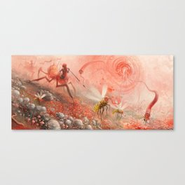 Happy Alien Bob Ross and the Happy Bobby Monster Canvas Print