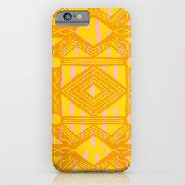 vintage kantha: orange & yellow iPhone Case