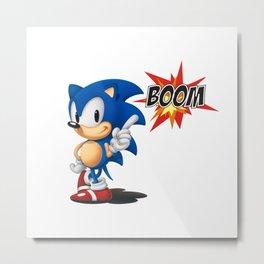 Sonic BOOM Metal Print