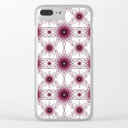 Double Pentagrams Clear iPhone Case