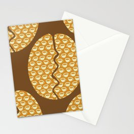 Coffe Bean and Cup Stationery Cards