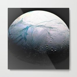 Saturn's moon Enceladus Space Mission Fly-by Photograph No. 3 Metal Print