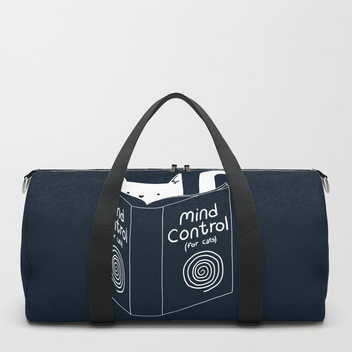 Mind Control For Cats (dark blue) Duffle Bag