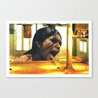 scream Canvas Prints featuring  SCREAM by tareco