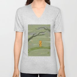 Diable en forêt Unisex V-Neck