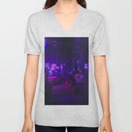 Vaporwave Vibes Alleyway Unisex V-Neck