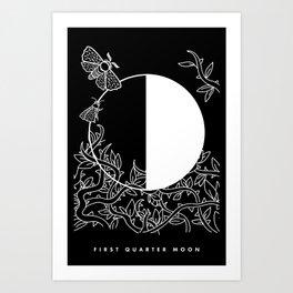 First Quarter Moon Art Print