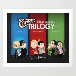 The Three Sweetest Flavours Art Print