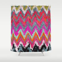 chevron Shower Curtains featuring Chevron * by Mr and Mrs Quirynen