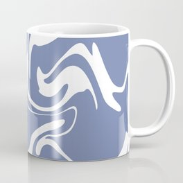 Soft Violet Liquid Marble Effect Design Coffee Mug