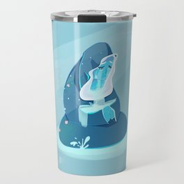 SU  Sad Blue Fountain Travel Mug