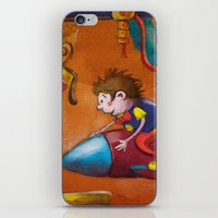 rocket iPhone & iPod Skins featuring Rocket by András Balogh