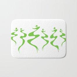 Dancers green Bath Mat