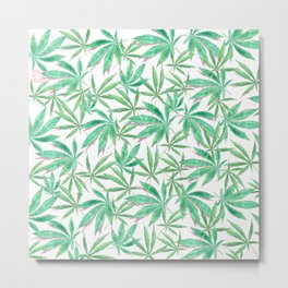 420 Leaves Metal Print