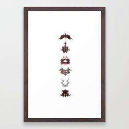 rosrach test Framed Art Print
