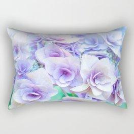 pastel hydrangea Rectangular Pillow