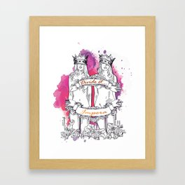 Divide and Conquer- Lilac Framed Art Print