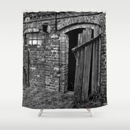 Old abandoned barn Shower Curtain