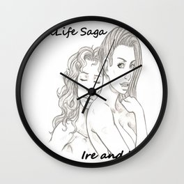 DarkLife Saga Characters: Ire and Val Wall Clock