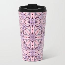 Soft Pink and Purple Kaleidoscope Star design Travel Mug