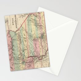 Vintage Map of New Mexico and Utah (1857) Stationery Cards