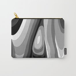Monochromatic Psychedelic Gray Swirls Pattern Carry-All Pouch