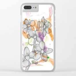 Plum Flower Clear iPhone Case