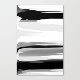 Soft Determination Black & White Canvas Print