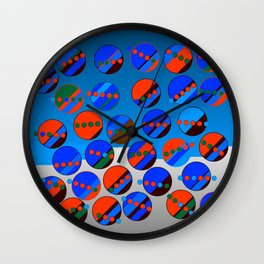 Bubbes Blues Wall Clock