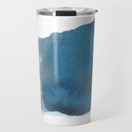 Available: dark abstract blue painting Travel Mug