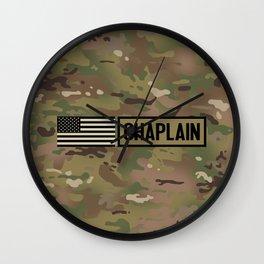 Chaplain (Camo) Wall Clock