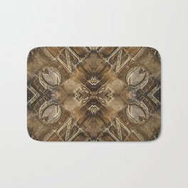 Metal Vintage Letter Abstract Bath Mat