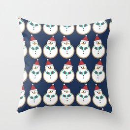 christmas snowmen Throw Pillow