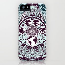 evolution of earth mandala iPhone Case