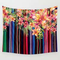 mexican Wall Tapestries featuring Florid Mexican by Dave Higs