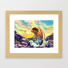 Catboat Sailing Framed Art Print